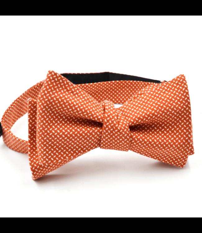 Curated Basics Diamond Plate Orange Bow Tie