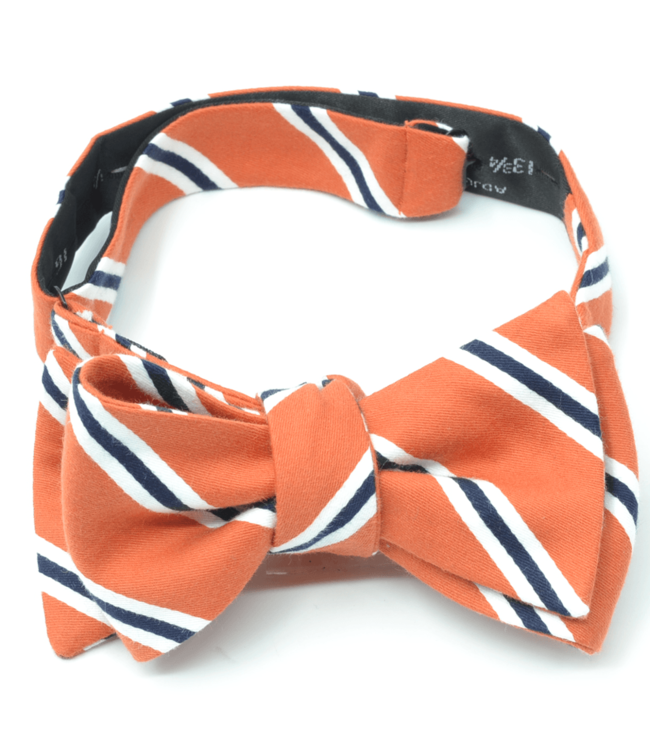 Curated Basics Orange Striped Bow Tie