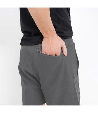 Mono B Medium Grey Wave Accent Active Shorts