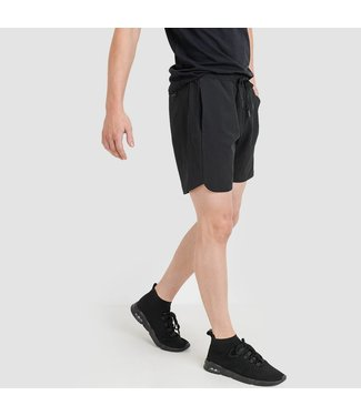 Mono B Black Wave Accent Active Shorts