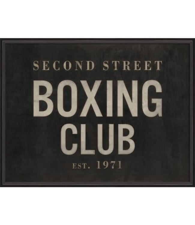 Spicher and Company Second Street Boxing Club Artwork