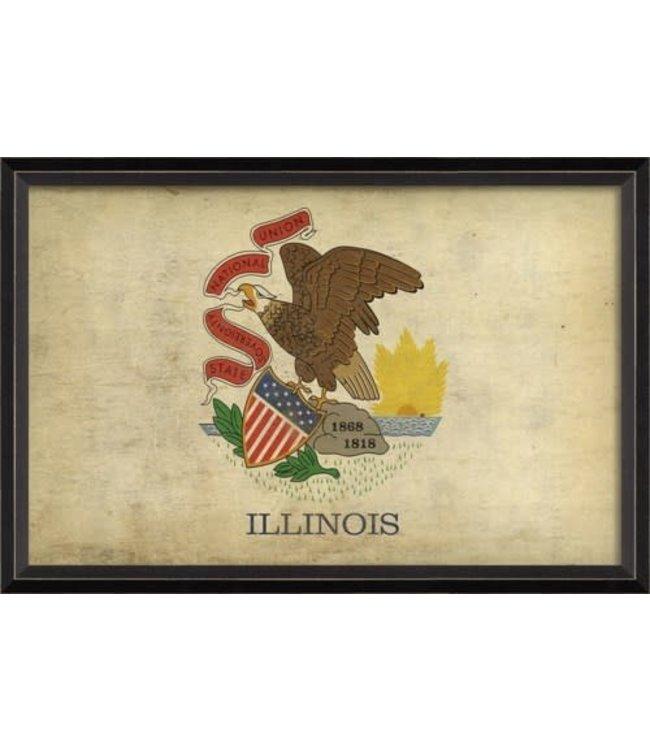 Spicher and Company Illinois State Flag Art