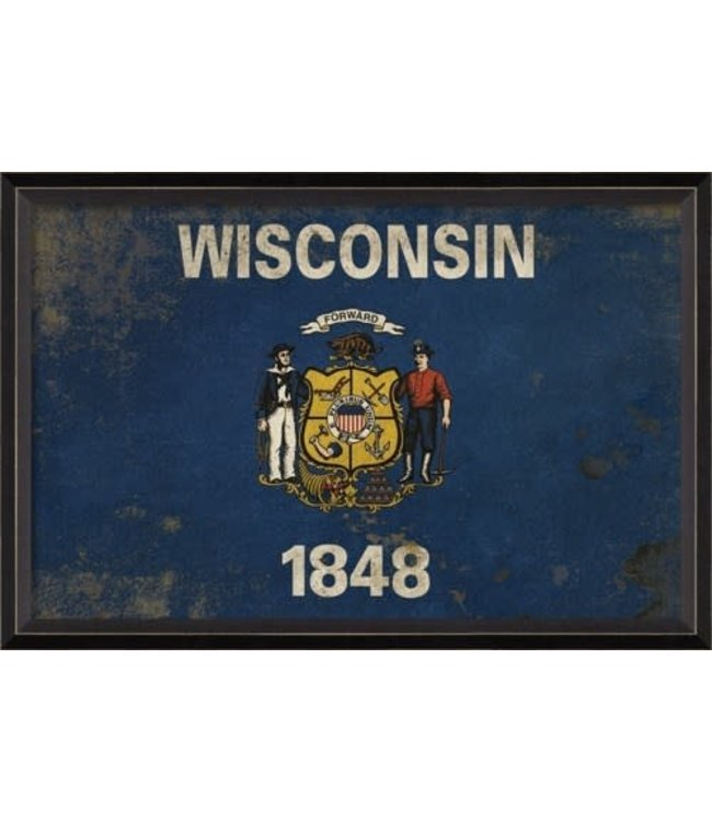 Spicher and Company Wisconsin State Flag Art