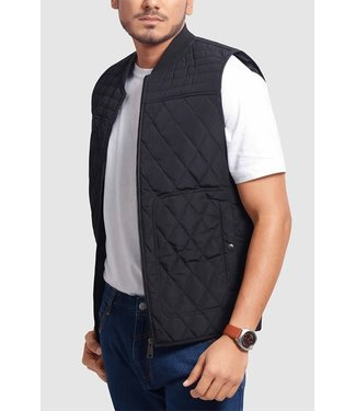 Olgyn Black Quilted Vest