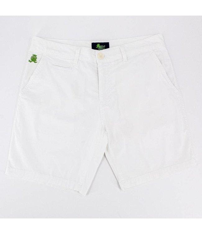 Eight X White Ex Frog Shorts