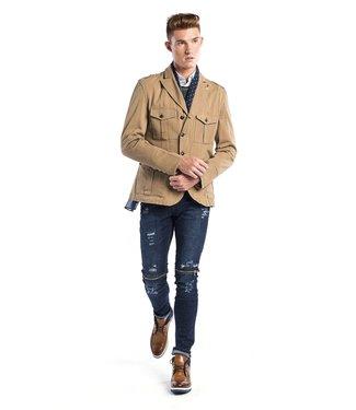 Ron Tomson Zip & Button Single Vent Camel Jacket