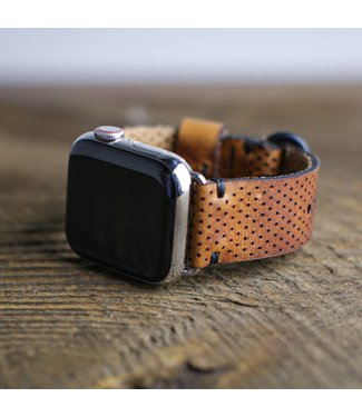 Choice Cuts Industries Perforated Horween Leather Apple Watch Band
