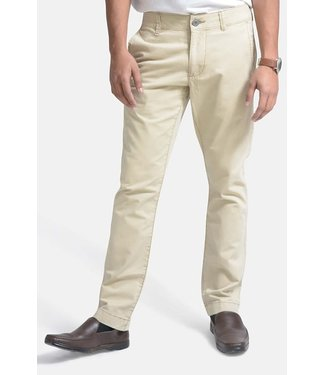 Olgyn Beige Chino flat Front Pant