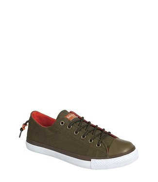Derbyshire Army Green Casual Slip On Sneaker