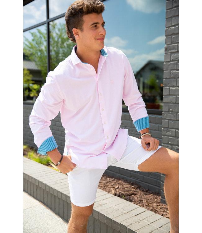 Koy Clothing Pink Pique Mawimbi Shirt