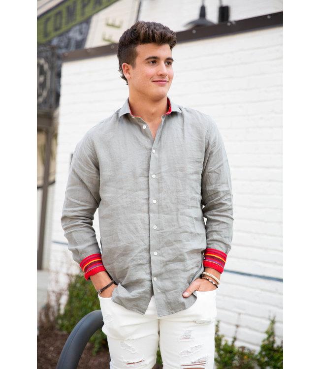 Koy Clothing Mara Khaki Linen Shirt