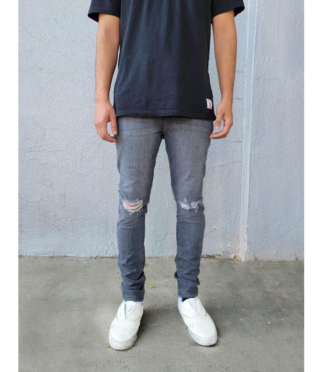Neo Blue Broken Charcoal Skinny jean