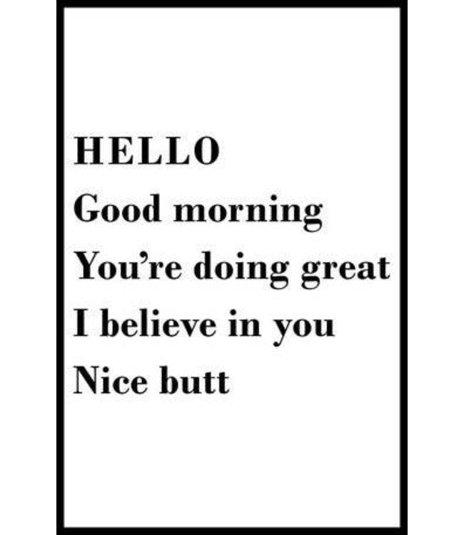 Stash Style Hello Nice Butt Poster