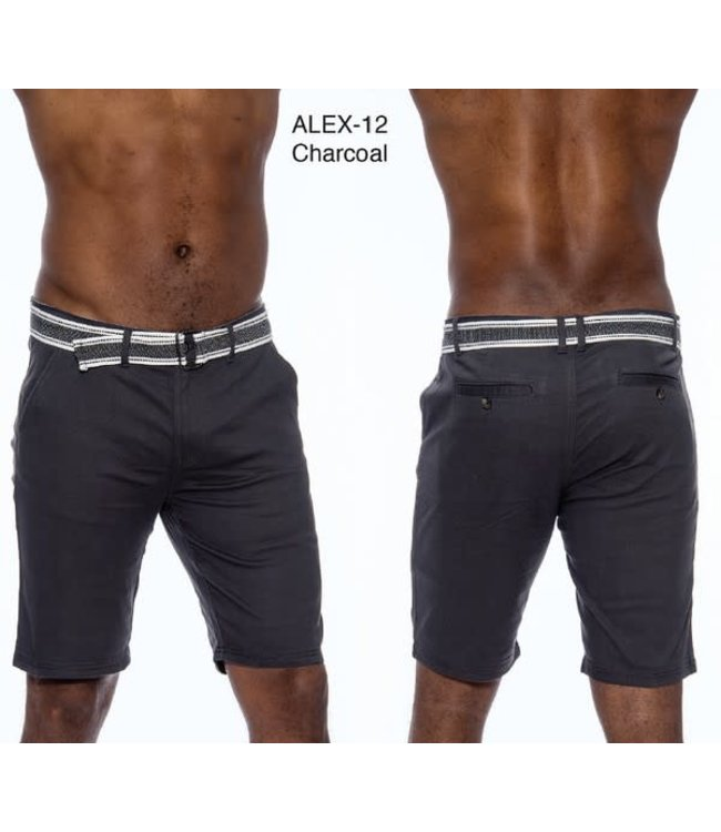 Derbyshire Charcoal Alex Stretch Short