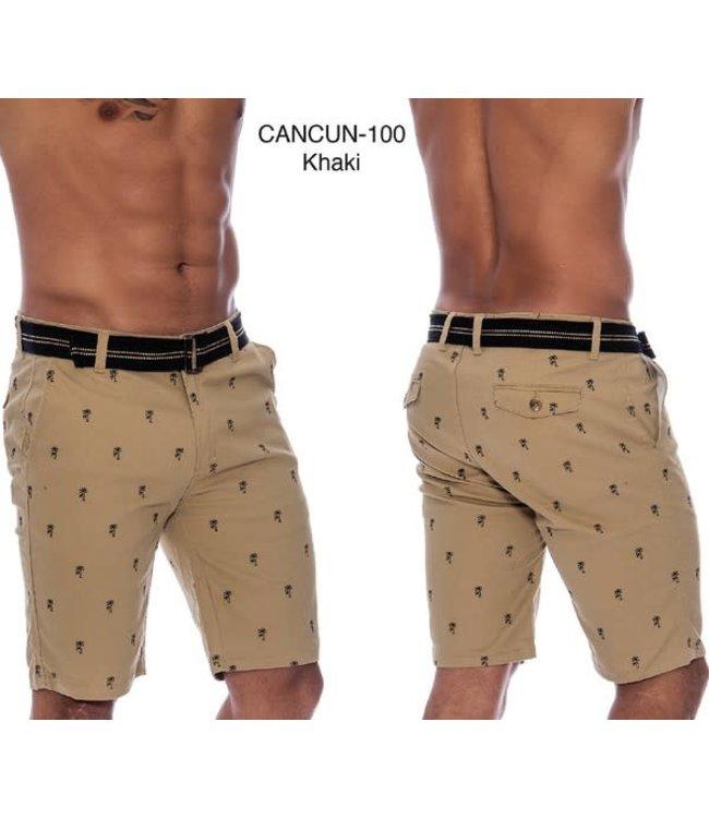 Derbyshire Cancun Stretch Short in Khaki