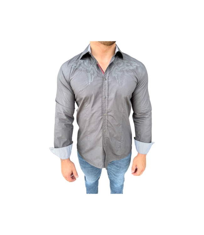 Young Republic Embroidered Long Sleeve Button Down