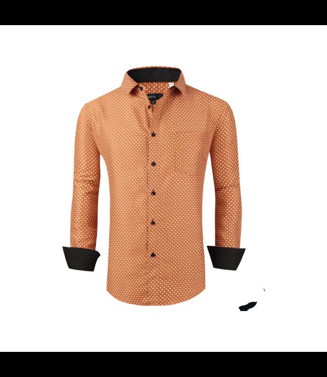 Pavini Orange Check Button Down