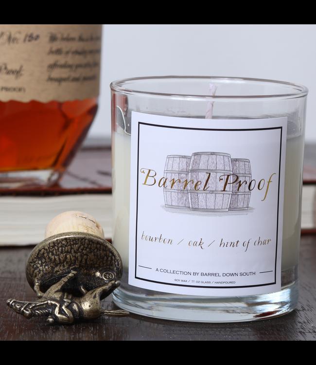 Barrel Down South Bourbon Barrel Proof Candle