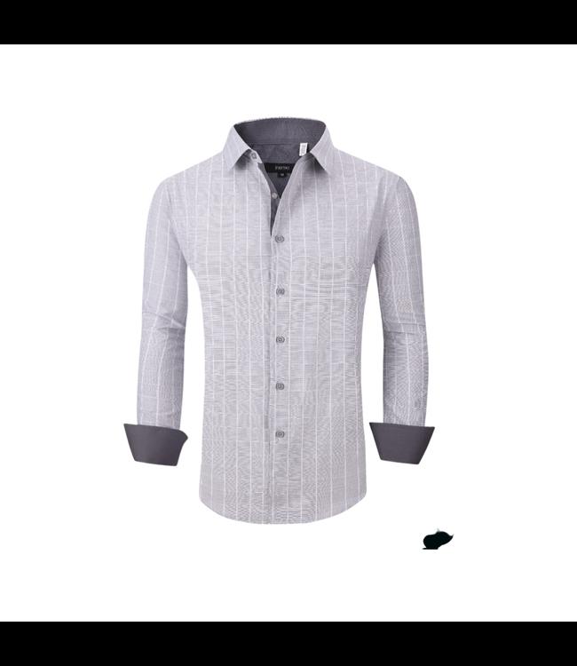 Pavini Grey & White Windowpane Button Down