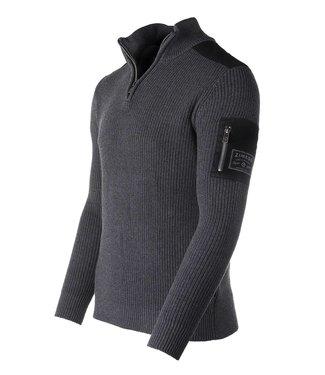 Zimego Quarter Zip Mock Turtleneck Sweater