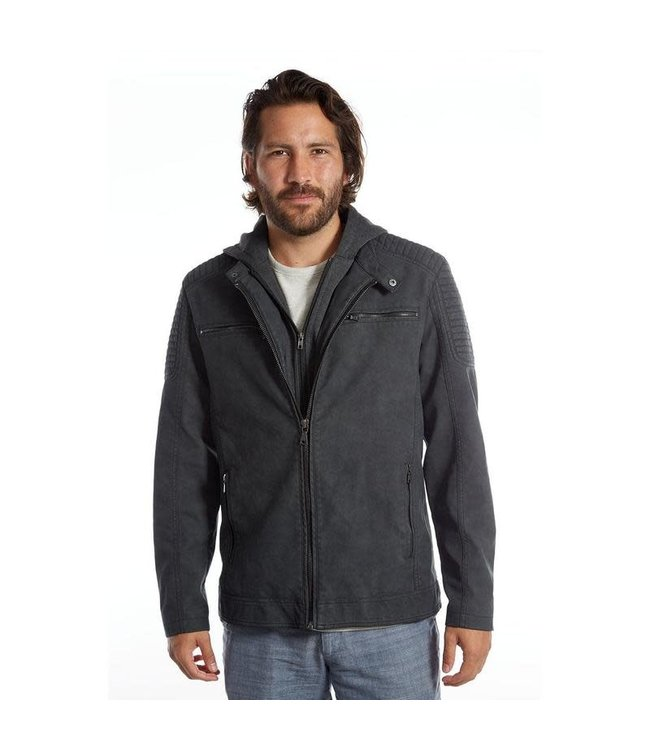 PX Chandler Vegan Leather Moto Jacket