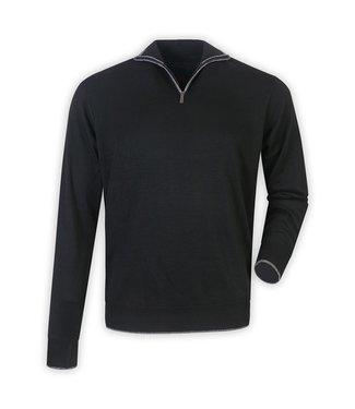 Maison Leneveu Black Half Zip Pullover