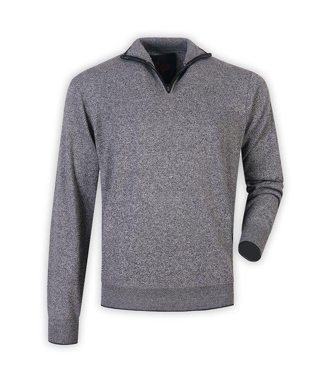 Maison Leneveu Grey Half Zip Pullover