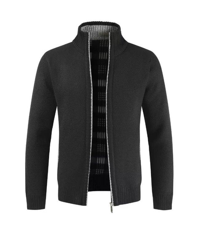Maison Leneveu Zip Up Fleece Sweater jacket