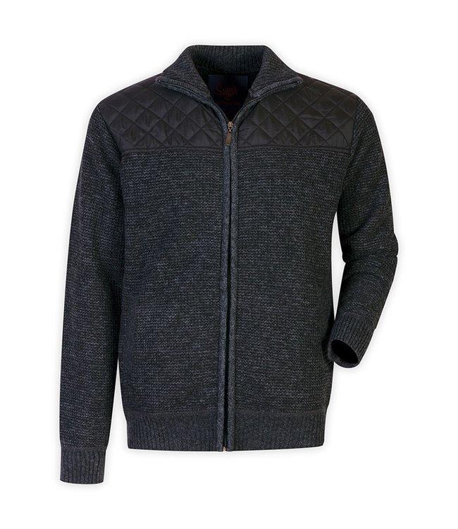 Maison Leneveu Adam Quilted Zip Jacket