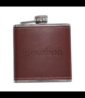 Barrel Down South Leather Bourbon flask