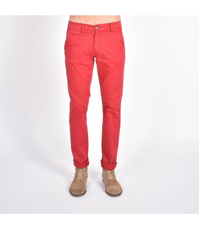 Eight X Red Slim Fit Soft Chinos