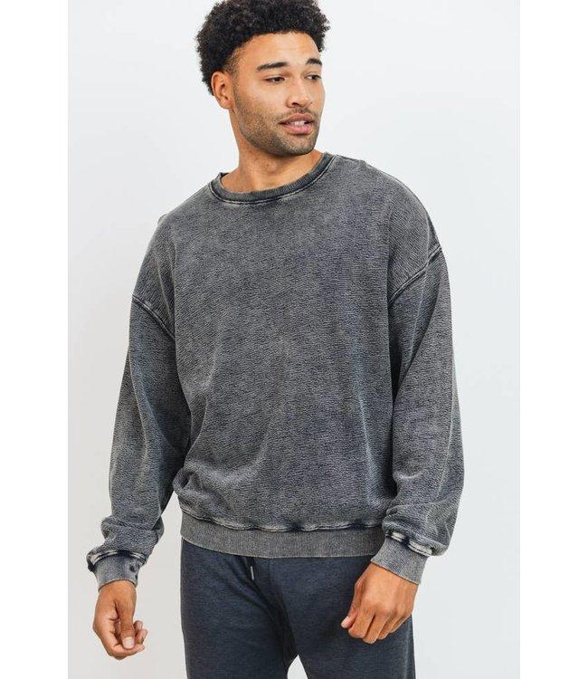 Mono B Mineral Wash Cotton Pullover
