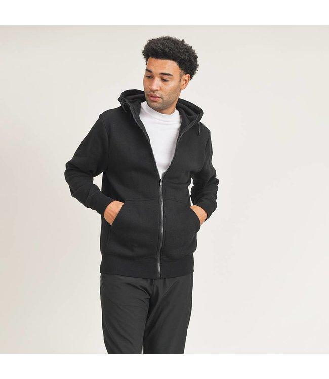 Mono B Essential Fleece Hoodie in Black