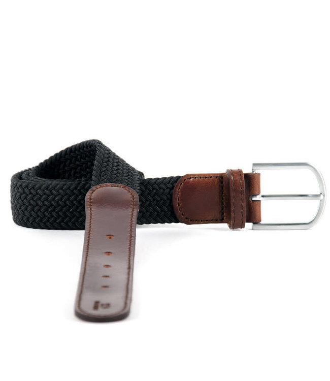 """Billybelt Black Trendy Woven Elastic Belt 33""""/37"""""""