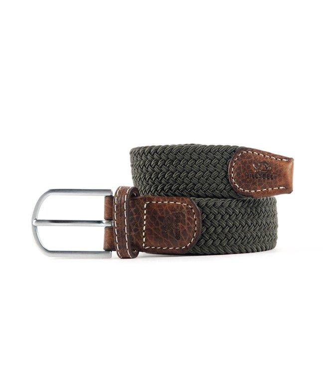 Billybelt Khaki Green Woven Elastic Belt