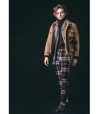 Karl Mommoo Homme Camel/Red Check Pants