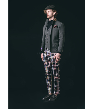 Karl Mommoo Homme Red Check Pants