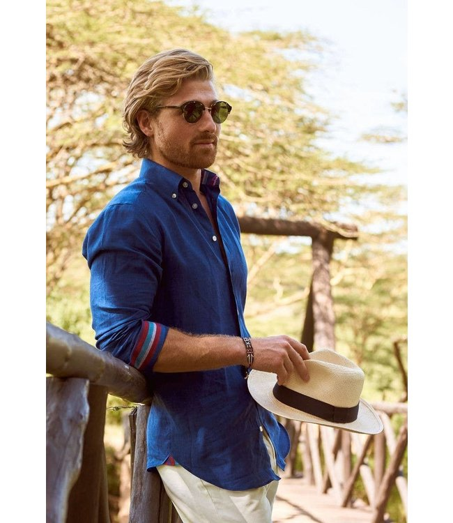 Koy Clothing Kamba Navy Linen Shirt