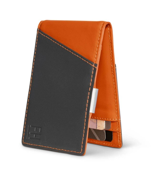 Forrest & Harold Charcoal & Rust Money Clip Wallet