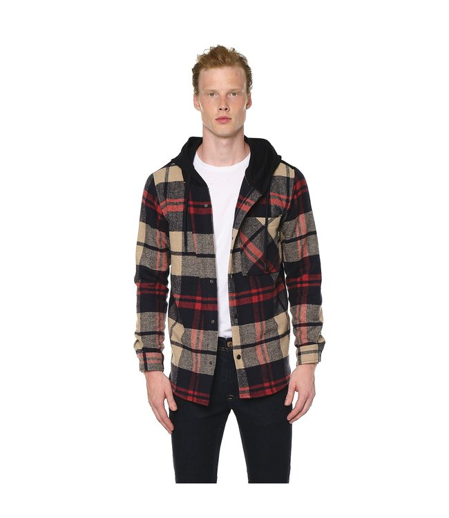 Ron Tomson Color Block Hooded Flannel