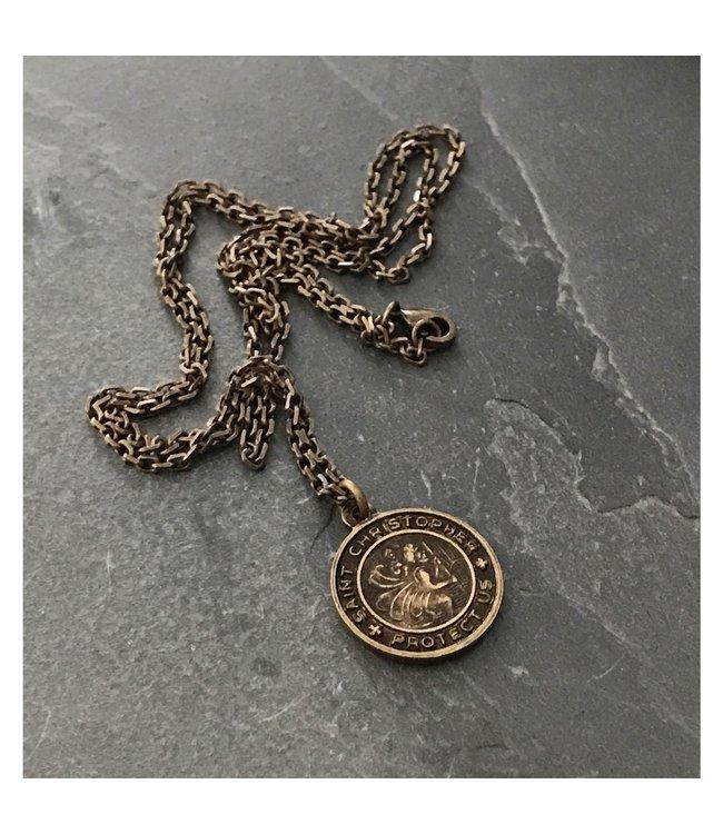 Johnny Ltd. Brass St Christopher Necklace
