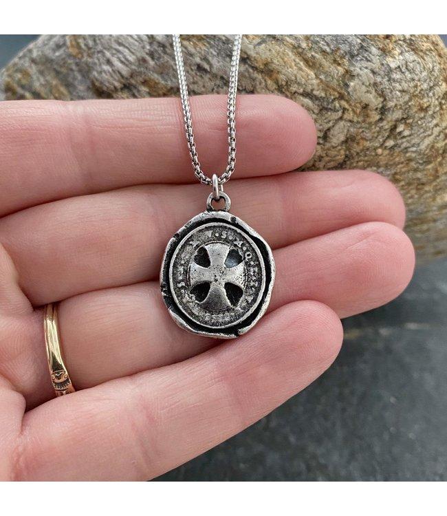 Johnny Ltd. Wax Seal Cross Necklace