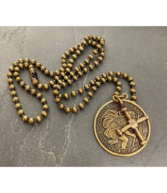 Johnny Ltd. St. Christopher Cross Necklace