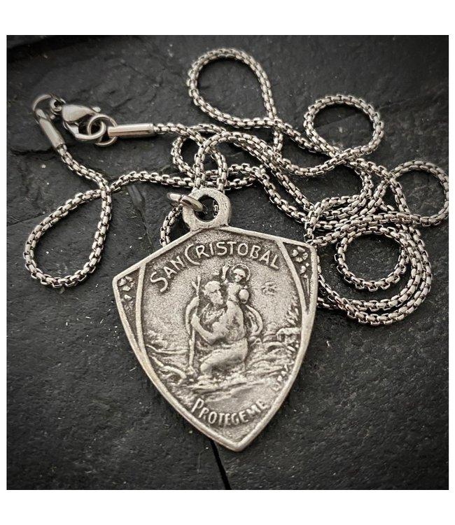 Johnny Ltd. St. Christopher Medal Necklace