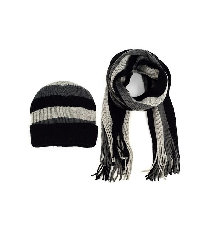 Selini Charcaol and Black Hat & Scarf