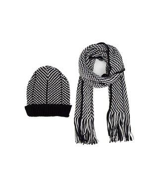 Selini Two Tone Hat & Scarf