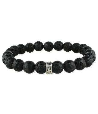 Zad Black Lava Beaded Bracelet