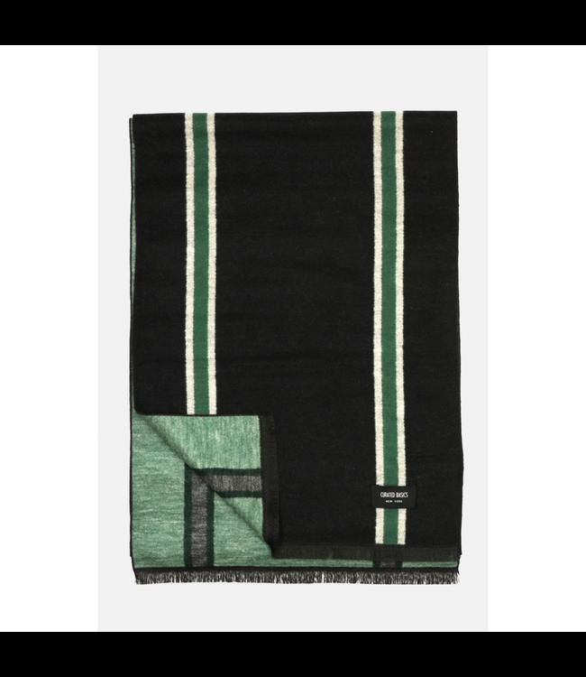 Curated Basics Black Stripes Brushed Silk Scarf