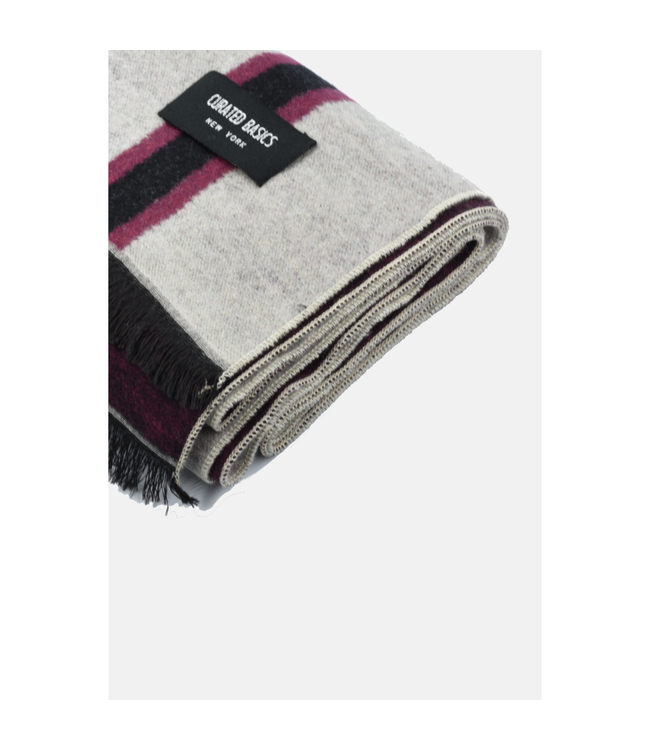 Curated Basics Oat Stripes Brushed Silk Scarf