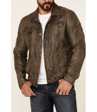 Mauritius Geoff Stonewashed Leather Jacket